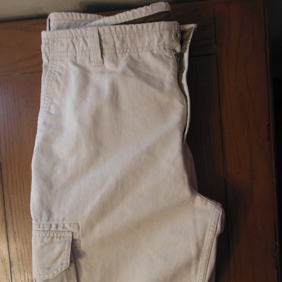 GAP Men's Khaki Standard Cargo Pants 36/30 Cotton